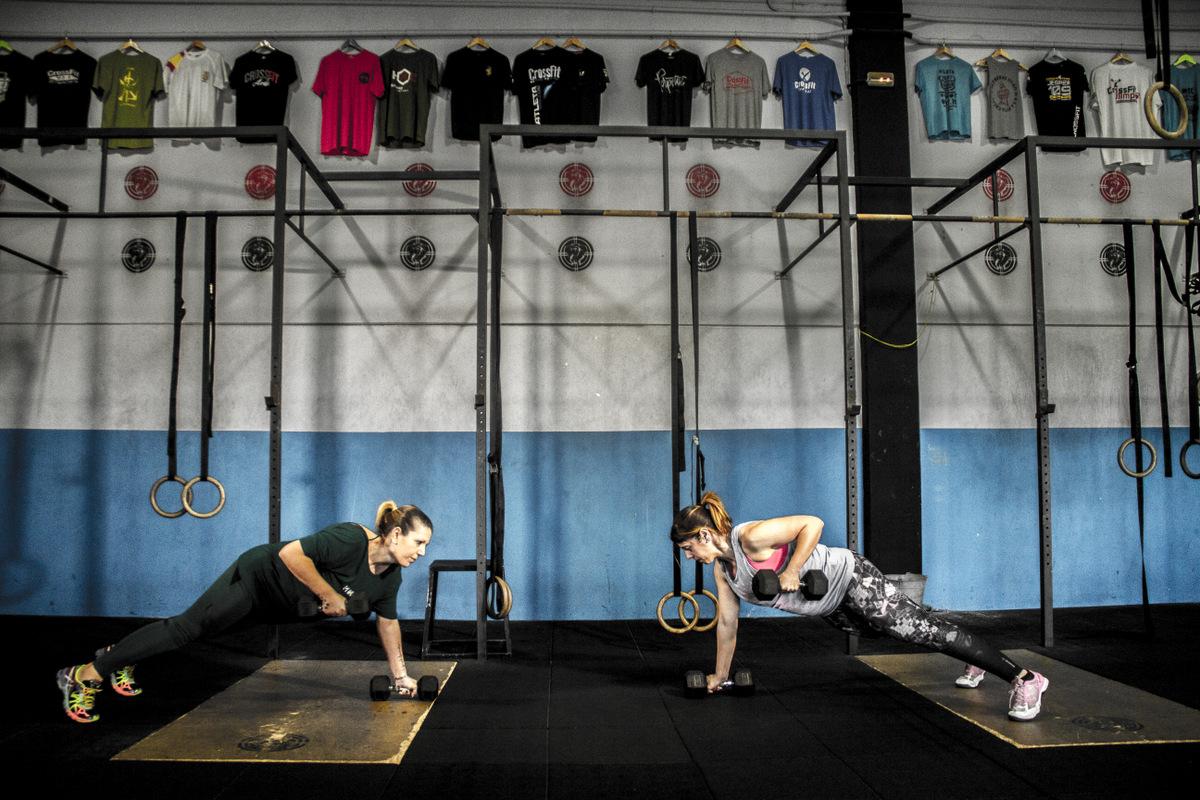 Box CFS Box CrossFit Sevilla Push Up Mancuerna