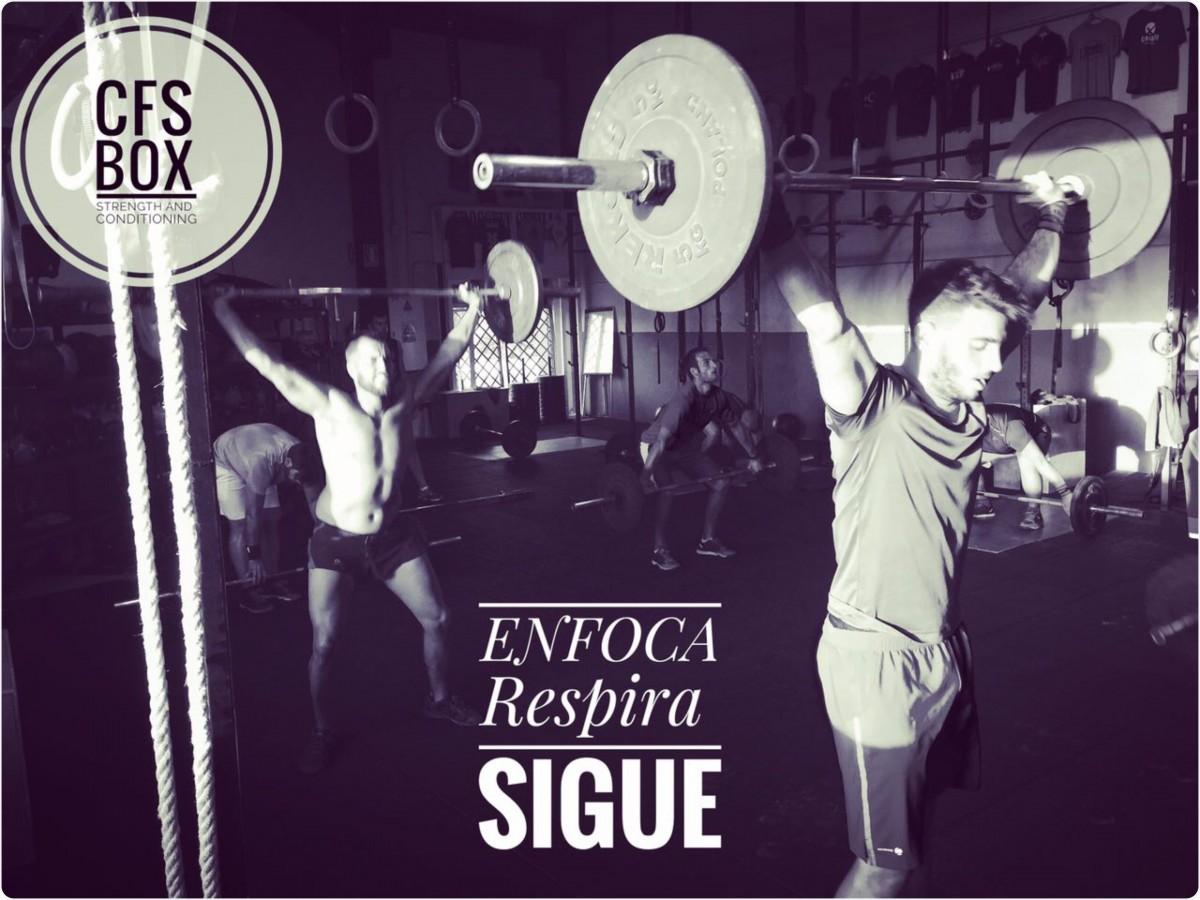 CFS Box CrossFit Sevilla training Halterofilia enfoca respira sigue