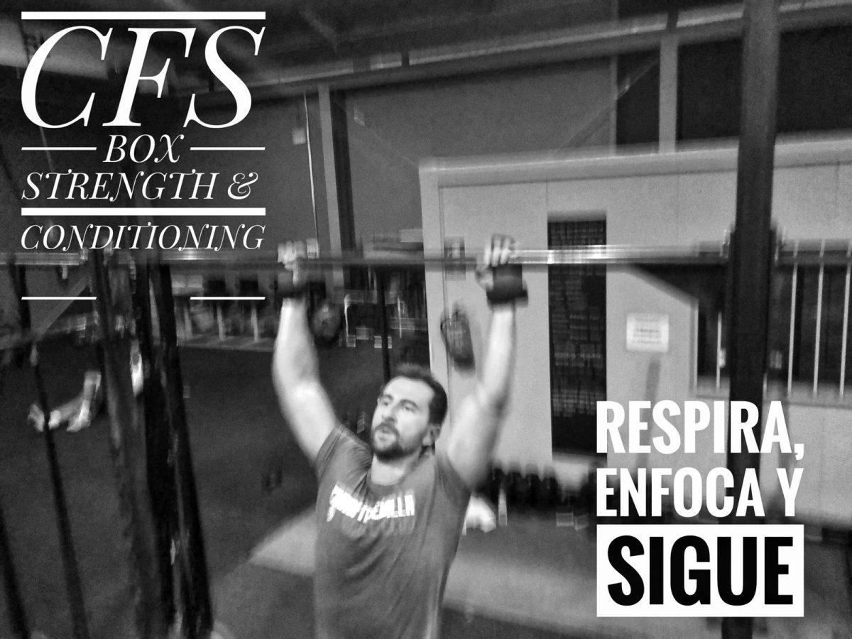 Wod CFS Box CrossFit Sevilla training Halterofilia enfoca respira sigue