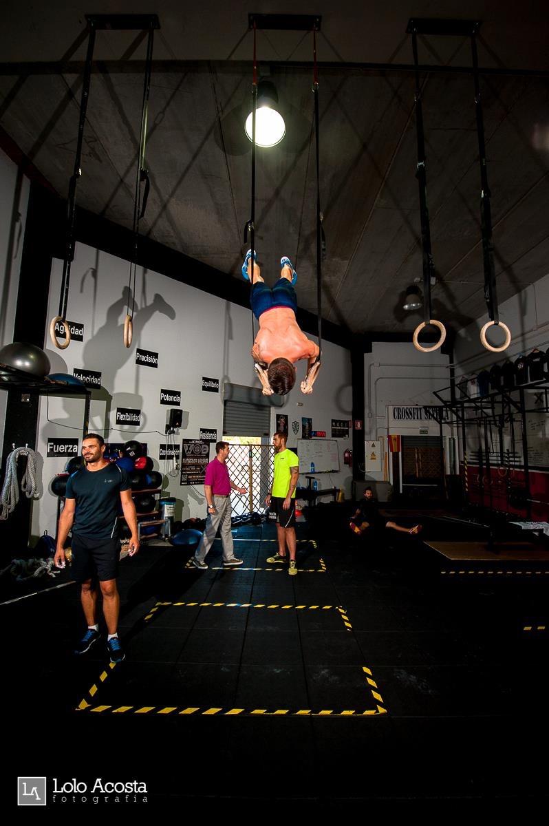 Wod x CrossFit Sevilla Leones training anillas