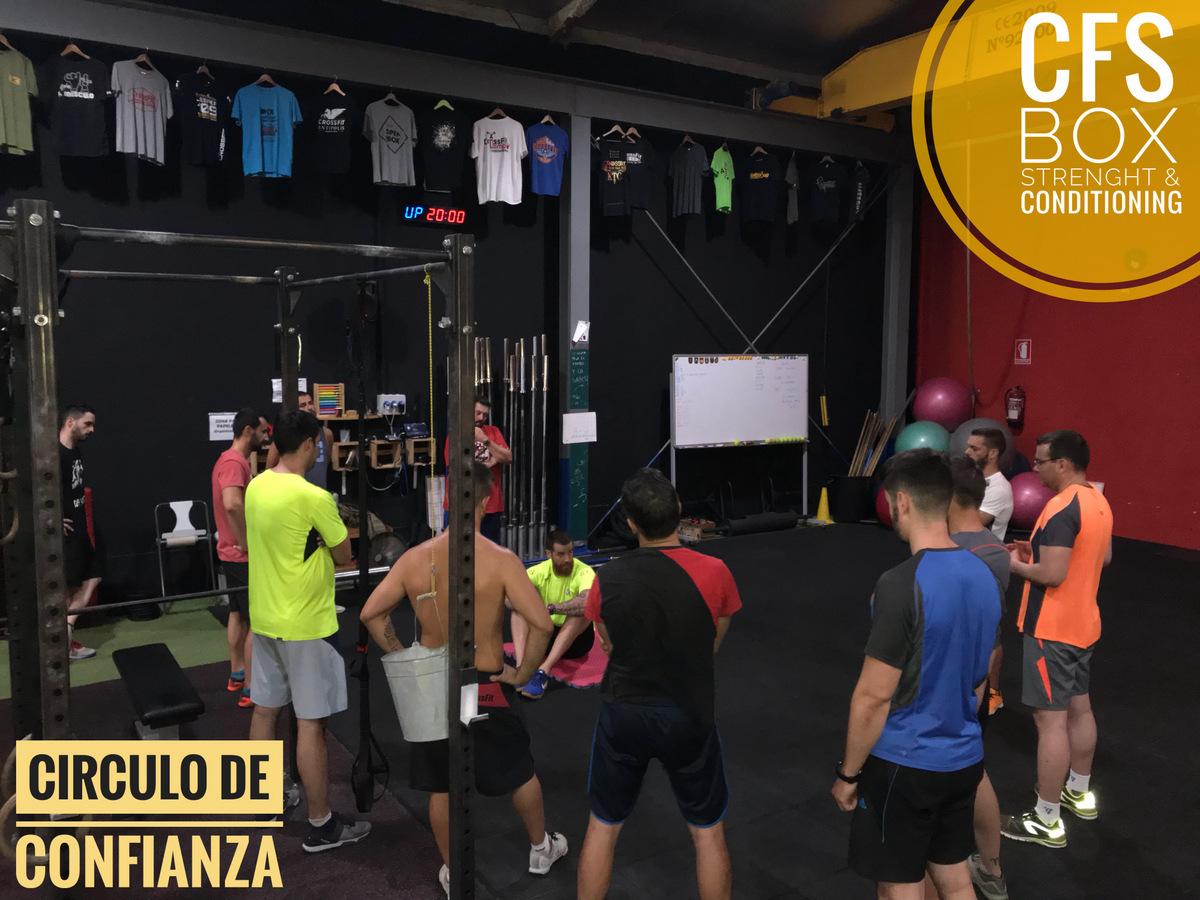 Wod CFS Box CrossFit Sevilla training circulo confianza
