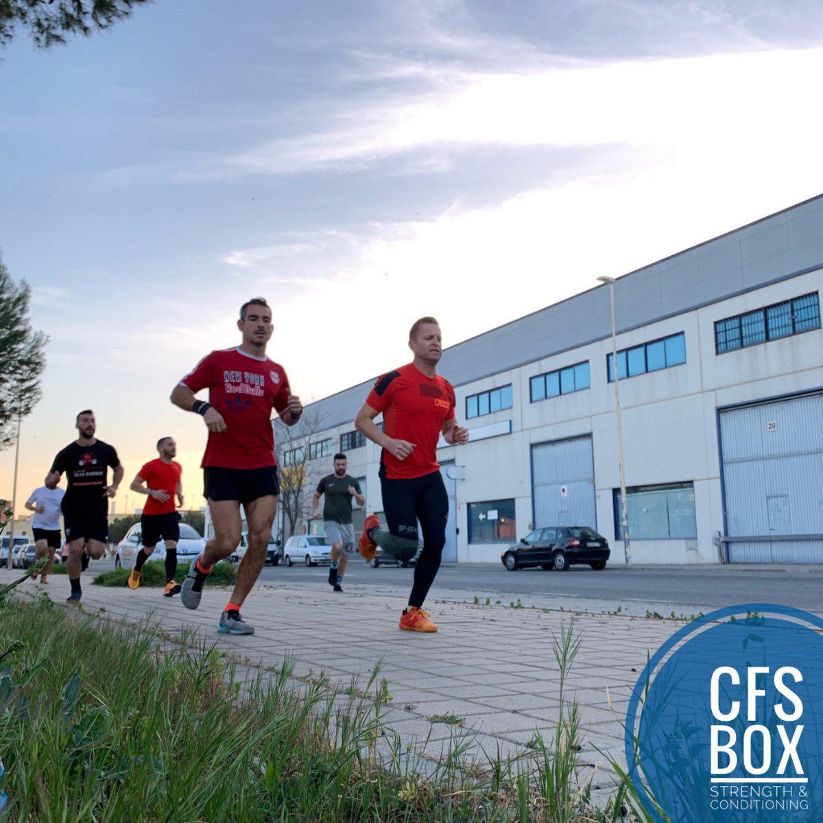Wod CFS Box CrossFit Sevilla training lions running
